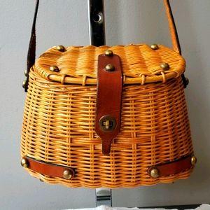 John Romain Wicker Creel Bag